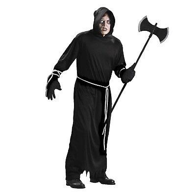Adult Hooded Death Grim Reaper Hades Executioner Wizard - Hades Halloween Kostüme