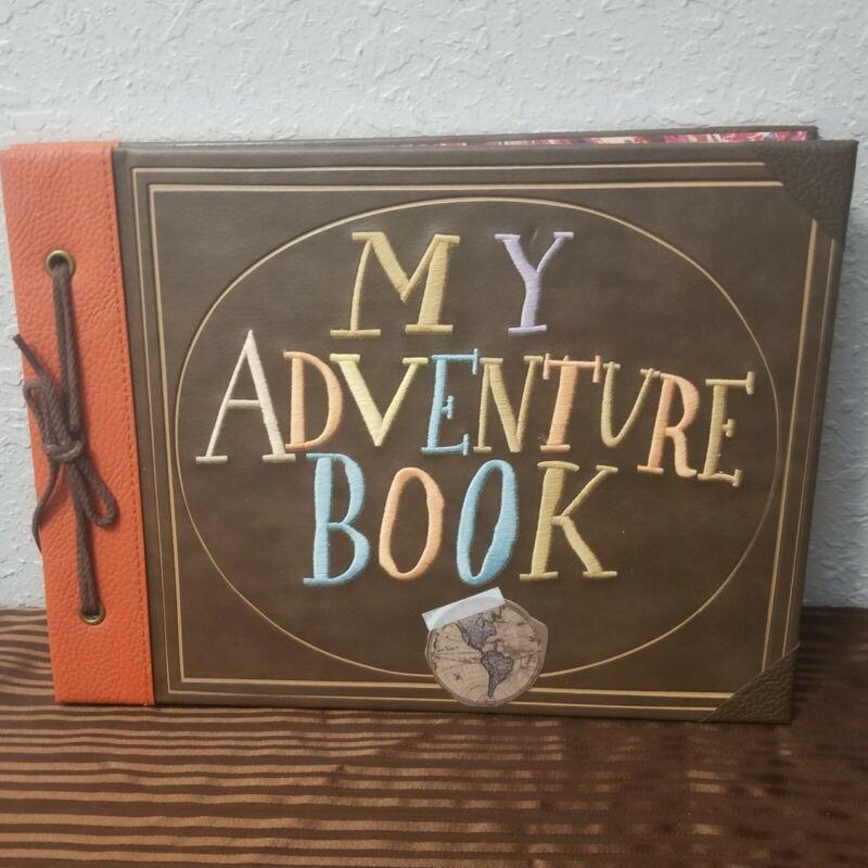 "Disney Parks Pixar UP ""My Adventure Book"" Replica Journal Carl Ellie with Photos"