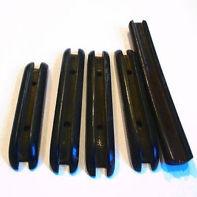 """Set of 5 Vintage BLACK Bakelite Celluloid Drawer Furniture Handles Pulls 2-4.5"""""""
