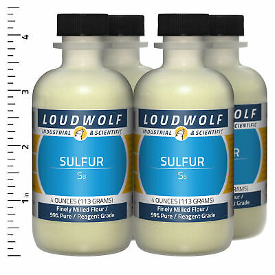 Sulfur 1 Lb Total 4 Bottles Reagent Grade Finely Milled Flour Usa Seller