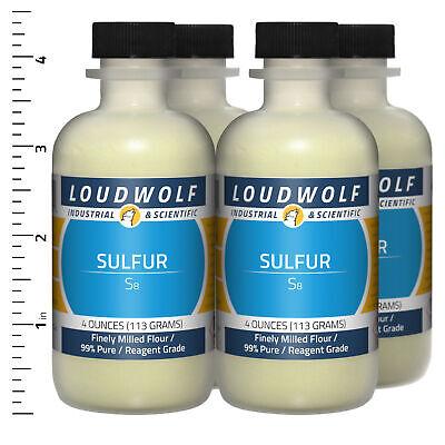 Sulfur 1 Lb Total 4 Bottles Reagent Grade Finely Milled Flour Usa Seller