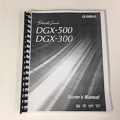 Yamaha DGX-500 DGX-300 Portable Grand Piano Keyboard Owner's User Manual Booklet, used for sale  Shipping to South Africa