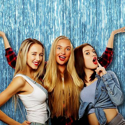 Pack of 4 Light Blue Photo Booth Props and Backdrop Decorations for Sweet
