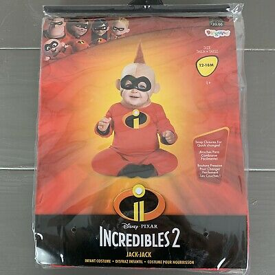Disney The Incredibles Baby Jack Jack Halloween Costume Toddler Size 12-18M