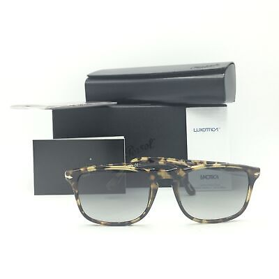 New Persol 3059-S 1056/71 Squared Tortoise Brown Sunglasses W/ Gray Lens (Persol 3059s)
