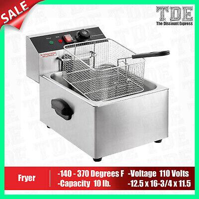 Deep Fryer Commercial Countertop Electric Fryer 1 Basket 110v 1600w 10lb New
