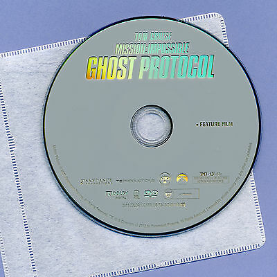 Mission Impossible Ghost Protocol 2011 PG13 spy movie DVD disc&sleeve Tom (13 Ghost Movie)