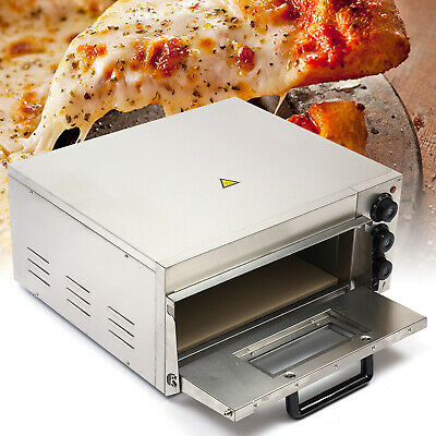 Electric Pizza Maker Single Deck Stainless Steel Baking Equipment Pizza Oven 2kw