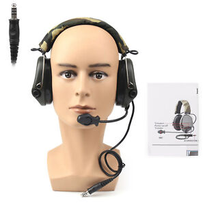 MSA SORDIN Noise Reduction Airsoft Comtac Military Combat Swat Tactical Headset/