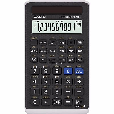 Casio FX260 SOLAR II Solar Scientific Calculator, FX260