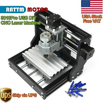 Usacnc 3018 Pro Diy Desktop Cutter Engraver Grbl Pcb Wood Router Laser Machine