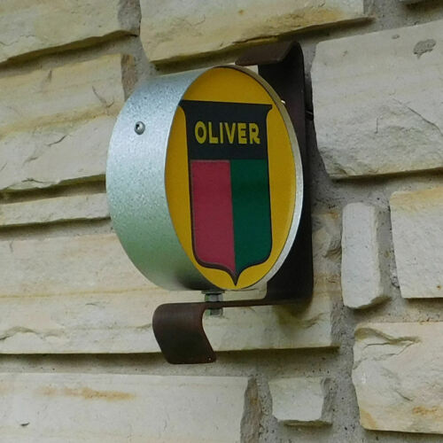 Oliver Tractor logo emblem miniature wall post service Sign USA made