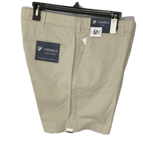 """Cremieux Mens Soho Slim Fit Chino Shorts 42 Flat Front 7"""" Comfort Stretch String Clothing, Shoes & Accessories"""