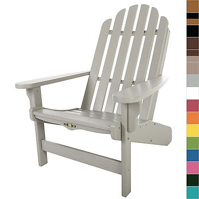 Pawleys Island Essential Adirondack Poly Lumber Durawood Chair Outdoor Furniture ()