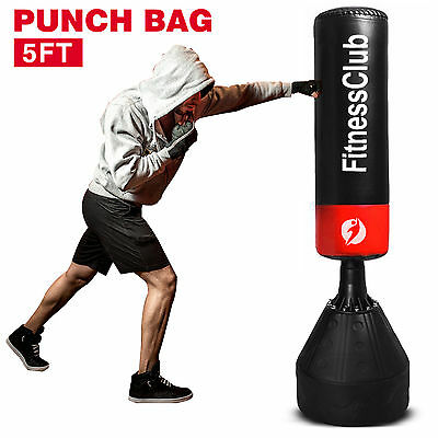 5Ft Free Standing Boxing Punch Bag Kick Heavy Duty MMA Martial Art Training