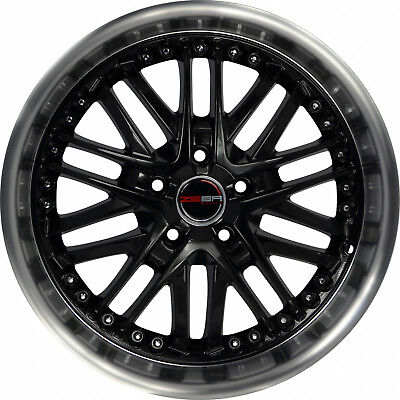 4 GWG Wheels 18 inch Black Machined AMAYA Rims fits CHEVY VENTURE 2000 - 2005