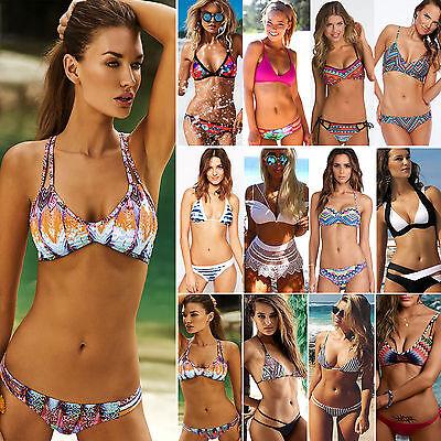 sexy, da donna fascia Set Bikini push up Imbottito Costumi da bagno estate