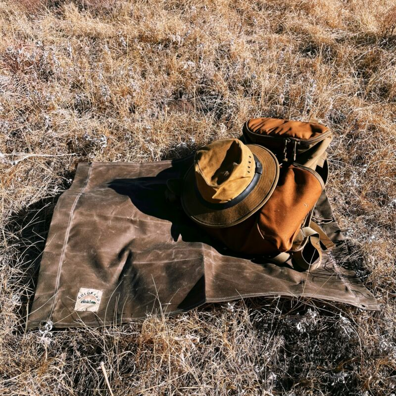Medium Deluxe Waxed Canvas Bushcraft Ground Cloth (Various Colors)