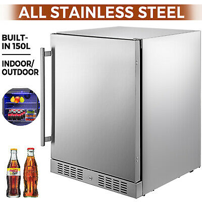 Built-in All Stainless Steel Beverage Cooler 5.5 cu.ft.Outdoor Refrigerator