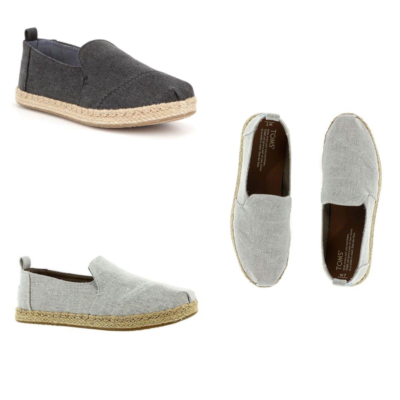 Toms Women's Casual Slip On Shoes Deconstructed Alpargata Espadrilles Flats NEW