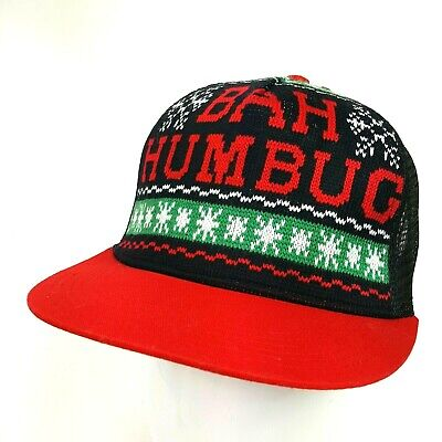 Christmas Holiday Bah Humbug Trucker Ugly Sweater Hat - Bah Humbug Hat