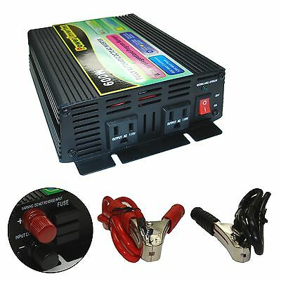 12v Ac-mobile (600 Watt 12V DC to AC Mobile Power Inverter NEW)