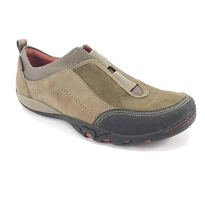 Merrell Women's Mimosa Cheer Brown Leather Mesh Slip-On Shoes Size 9.5 US