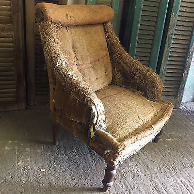 Antique French Nursing Side Chair (for Recovering)