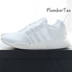 Brand New Adidas Original NMD R1 Monochrome Pack All White Melbourne CBD Melbourne City Preview