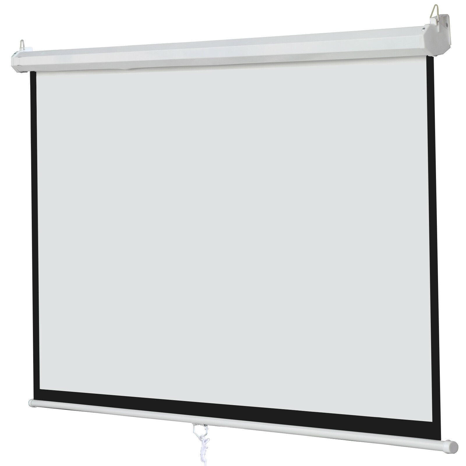 100 Inch 16:9 Manual Pull Down Projector Projection Screen Home Theater Movie Consumer Electronics