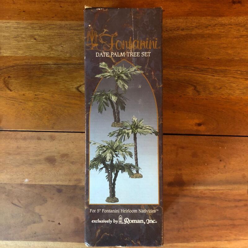 "Fontanini Date Palm Tree Set for 5"" Heirloom Nativities Roman Inc. NIB"
