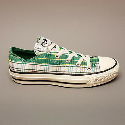 Converse Plaid Sneakers (Converse All Star Chuck Ox Punk Plaid White Pine Green 113962 Sneaker weiß grün)