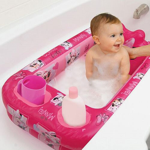 Baby Bath Tube Inflatable Safety Disney Toddler Newborn Pool Portable Support