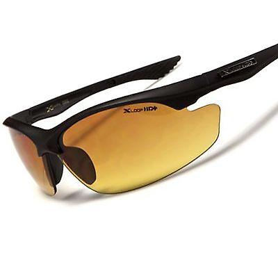 Matte Black Day Night Driving Biking Amber HD Lens Mens Stylish Sport Sunglasses