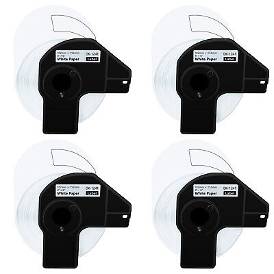 4 Roll 200 Shipping Labels Dk-1241 4 X 6 For Brother Ql-1050n Ql-1110nwb