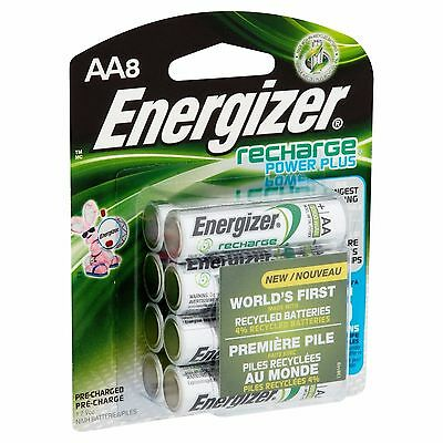 AA8 AA Energizer Rechargeable NiMH Batteries EXP 2021 (8/pack) 2300mAh