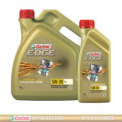 Castrol EDGE Titanium 5W-30 LL Full Synthetic Engine Oil 5 Litres 4 + 1L