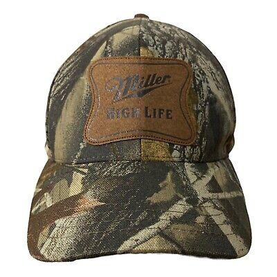 Miller High Life Beer Camouflage green brown camo Hat Adjustable Adult Cap