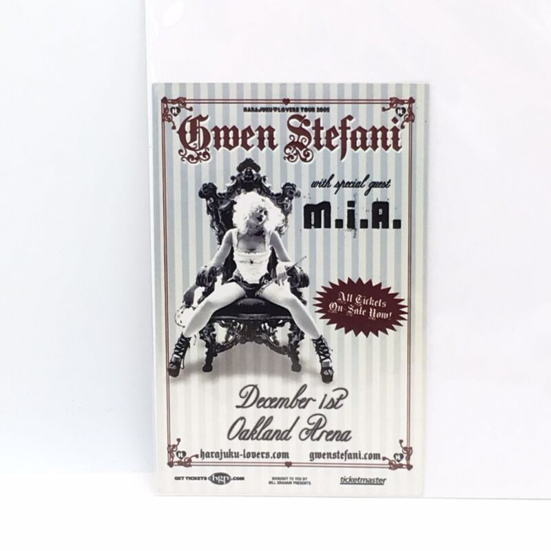 Gwen Stefani With Special Guest M.I.A Oakland Arena CA 2005 Tour Flyer