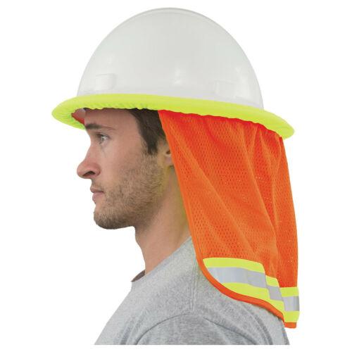 Hi-Viz Mesh Neck Shield (Orange) for Hard Hats