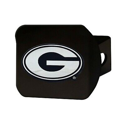 Fanmats NCAA Georgia Bulldogs Chrome 3D Black Metal Hitch Cover Del. 2-4 Day