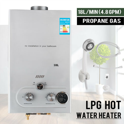 4.8GPM 18L Tankless LPG Liquid Propane Gas House Instant Hot