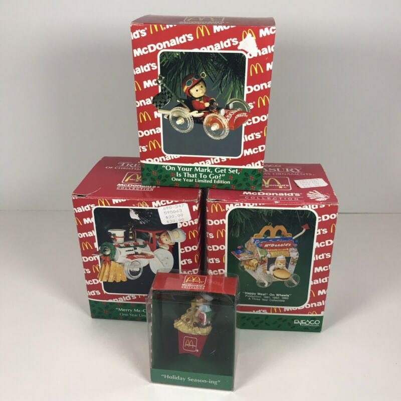 Enesco McDonalds Collection / Lot Of 4 Ornaments / Ornaments In Great Condition!