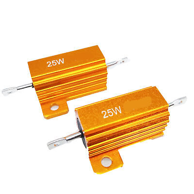 Ohm 25 Watt Wirewound Resistor - US Stock 2pc 100ohm 100R 25W Watt Aluminum Housed Metal Case Wirewound Resistors