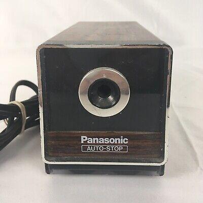 Vintage Panasonic Kp-120 Auto Stop Woodgrain Electric Pencil Sharpener Japan