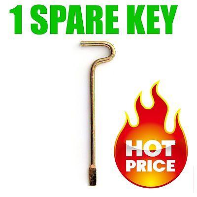 1 SPARE KEY for KWIKSET INTERIOR BED BATH DOOR KNOBS EMERGENCY 81087-001 ()