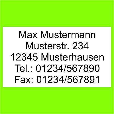 1300 Adressetiketten Adressaufkleber m. ihrem Text bedruckt Etiketten Aufkleber
