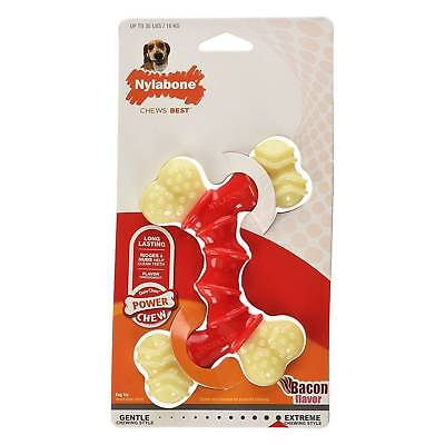 Nylabone DuraChew Double Bone Bacon Flavor Wolf Size | Chew Toy for 35 lb -