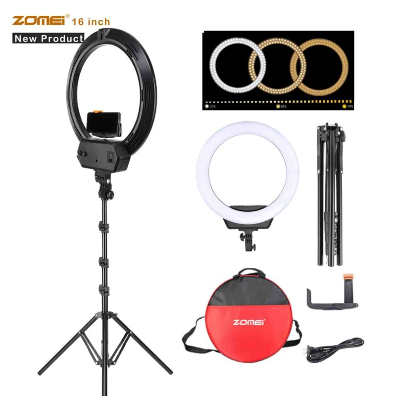 """16"""" SMD LED Ring Light Dimmable Lighting Lamp Continuous 3200-5600K with Tripod"""