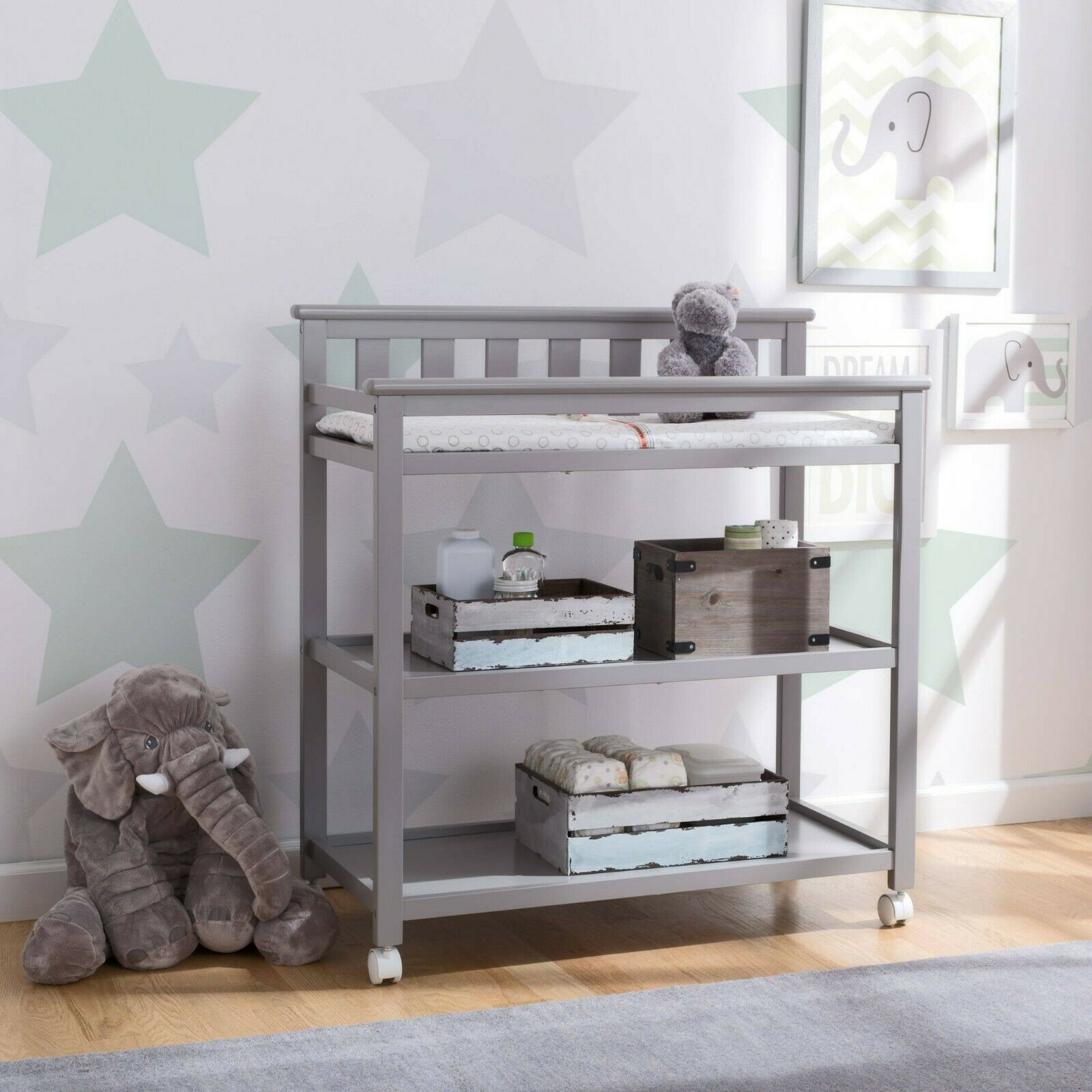 Delta Children Flat Top Changing Table Strong and Sturdy woo